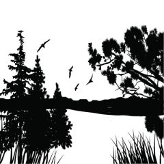 Lake View Enamel Fusible Decal