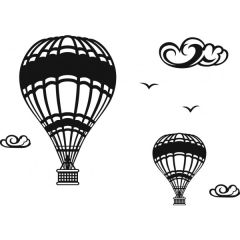 Hot Air Balloons Enamel Fusible Decal