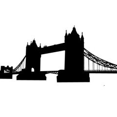 *Discontinued Item* London Tower Bridge Enamel Fusible Decal