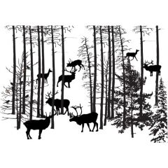 Forest Herd Enamel Fusible Decal