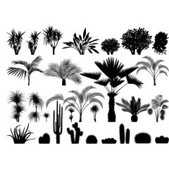 Tropical Foliage Enamel Fusible Decal Mini Sheet