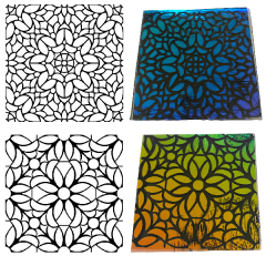 Stained Glass Windows Pack Simple-Etch Screens for Dichroic Glass Etching