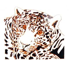 *Discontinued Item* The Lioness Gold Metallic & Black Fusing Enamel Decal