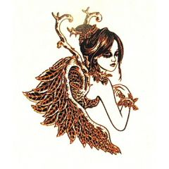 *Discontinued Item* Mystical Fairy Gold Metallic & Black Fusing Enamel Decal