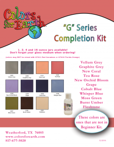 "Colors For Earth ""G"" Series Completion Kit - CFE"