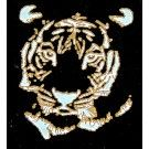 *Discontinued Item* Tiger Gold Metallic & White Fusing Enamel Decal