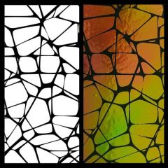 "Mosaic 3"" x 3"" Pattern Sheet  Illusion Transfers - Screen Printed Enamel Designs for Glass or Ceramics"