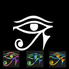 Eye of Horus Illusion Transfers - Screen Printed Enamel Designs for Glass