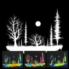 Enchanted Forest Illusion Transfers - Screen Printed Enamel Designs for Glass
