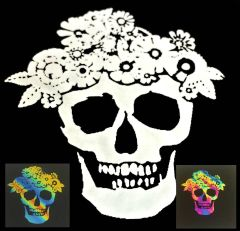 Day of the Dead Skull Illusion Transfers - Screen Printed Enamel Designs for Glass