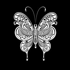Art Deco Butterfly Illusion Transfers - Screen Printed Enamel Designs for Glass