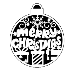 Merry Christmas Ornament Illusion Transfers - Screen Printed Enamel Designs for Glass or Ceramics