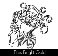 The Mermaid 18k Gold Cloisonné Transfer Decals