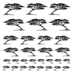 Serengeti Trees ProFusion Gold Enamel Glass Fusing Decals