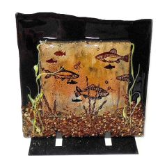 Fused Glass Fish Seaweed Plate Video Project