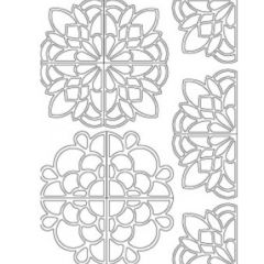 Large Mandalas Etching & Sandblasting Sticker Sheet