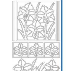 Iris Flower Etching & Sandblasting Sticker Sheet