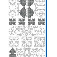 Lock and Key Etching & Sandblasting Sticker Sheet