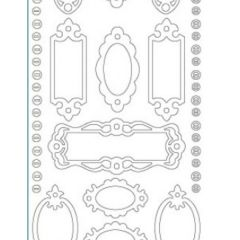 Frames Etching & Sandblasting Sticker Sheet