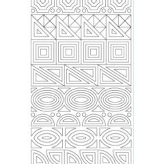 Abstract Shapes Etching & Sandblasting Sticker Sheet