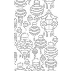 Chinese Lanterns Etching & Sandblasting Sticker Sheet