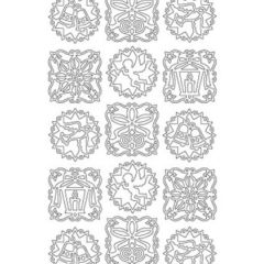 Window Mandalas Etching & Sandblasting Sticker Sheet