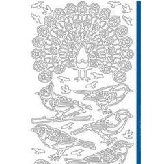 Forest Birds Etching & Sandblasting Sticker Sheet