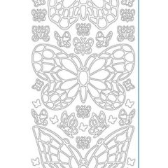 Stained Glass Butterfly Etching & Sandblasting Sticker Sheet