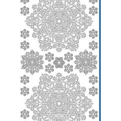 Snow Crystals Etching & Sandblasting Sticker Sheet