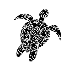 Simple Screen™ Pre-burned Artsy Turtle for Screen Printing  & Powder Printing