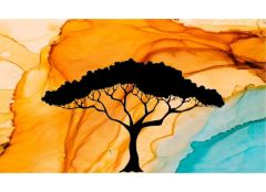Desert Tree Simple Screen™ Ready to Use Stencil • Large