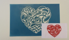 Simple Screen™  Pre-burned Celtic Heart Design for Screen Printing & Powder Printing