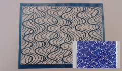 Simple Screen™  Pre-burned Waves Pattern Design for Screen Printing & Powder Printing