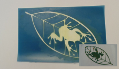 Simple Screen™  Pre-burned Leaf Frog Design for Screen Printing & Powder Printing