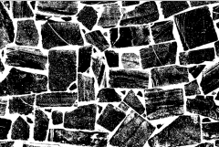Simple Screen™  Pre-burned Cobblestone Texture Design for Screen Printing & Powder Printing