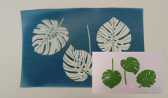 Simple Screen™  Pre-burned Monstera Leaf Design for Screen Printing & Powder Printing