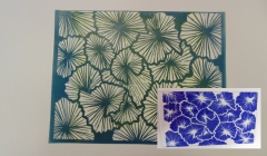 Simple Screen™  Pre-burned Sea Fans Pattern Design for  Screen Printing & Powder Printing