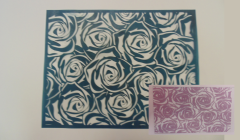 Simple Screen™  Pre-burned Roses Pattern Design for  Screen Printing & Powder Printing