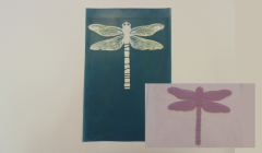 Simple Screen™  Pre-burned Dragonfly for Screen Printing & Powder Printing