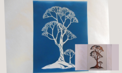 Simple Screen™  Pre-burned Hand Drawn Tree Texture Design for Screen Printing & Powder Printing