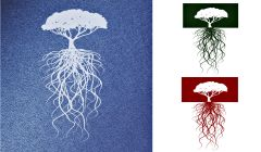 Simple Screen™  Pre-burned Long Rooted Tree Reversed Design for Screen Printing & Powder Printing