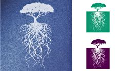Simple Screen™  Pre-burned Long Rooted Tree Design for Screen Printing & Powder Printing