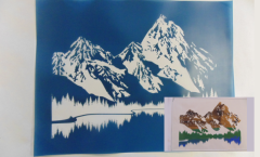 Simple Screen™  Pre-burned Mountain Lake for Screen Printing & Powder Printing