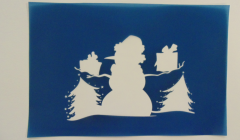 Simple Screen™ Pre-burned Winter Snowman for Screen Printing   & Powder Printing