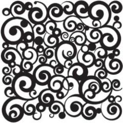 Powder or Airbrush Stencil-Swirls