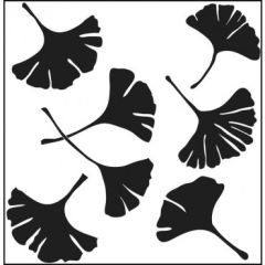 Powder or Airbrush Stencil-Ginko Leaves