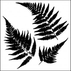Powder or Airbrush Stencil-Ferns