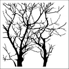 Powder or Airbrush Stencil-Branches Reversed