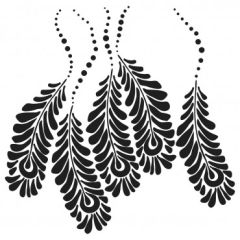 Powder or Airbrush Stencil-Peacock Feathers