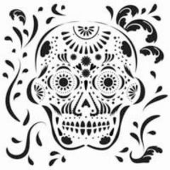 Powder or Airbrush Stencil-Day of the Dead